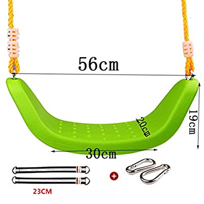 Ailin home- Childrens Indoor Outdoor Plastic Adjustable Garden Swing Seat Toy,Age For 4-12 Years Old ( Color : Green )