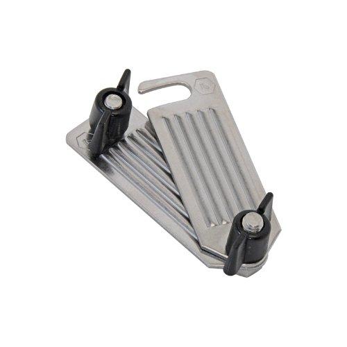 Set de accesorio conector para cintas conductoras, completo con tornillos y tuercas mariposa, para pastor eléctrico