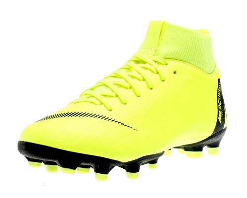 Nike jr. mercurial superfly vi academy mg, scarpe da calcio unisex-bambini, nero (volt/black 701), 37.5 eu