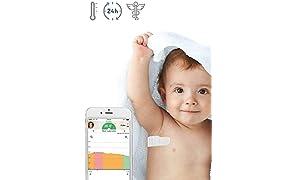 Thermomètre Connecté Patch TUCKY - Dispositif CE Médical - Surveillance de la température en continu et à distance