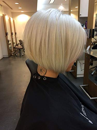 Easyouth Remy Lace Front Wig Bob 8 Zoll Farbe Hellblond 130% Dichte Full Head Brazilian Gerade Short Bob Extensions Menschliches Haar Perücke