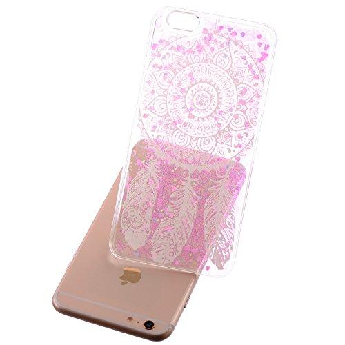 Beiuns Coque en Plastique Circuler liquide pour Apple iPhone4 4G 4S Housse Case - WM542 bonhomme de neige WM550 big dream catcher