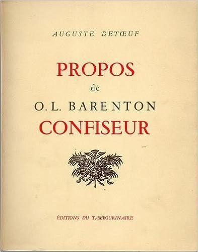 Téléchargement Propos de o. l barenton confiseur pdf, epub ebook