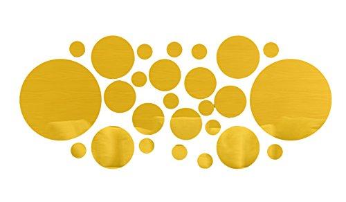 Gold 1 Satz Acryl-Spiegel beste Wanddekoration 3D DIY Muster für Wohnzimmer-Bett-Zimmer 26 Stk (Gold-bett-satz)