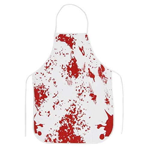 Gankmachine Horror Red Blutige Non-Woven-Gewebe Schürze Haunted House-Party Props Spuk Kostüm Zubehör