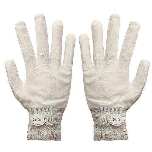 (aaerp LED Skeleton Handschuhe,Blinkende magische Handschuhe für Mode Clubbing Dance Party Kostüm Requisiten)