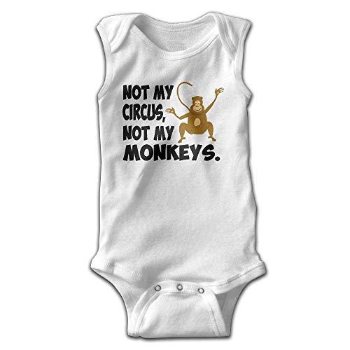 xcvgcxcvasda Ärmelloser Strampler für Babys Not My Circus Baby Sleeveless Romper Bodysuit Jumpsuit Cotton Comfortable Cute Pattern - Carters Striped Body