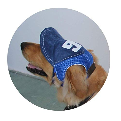NEWBEER Hund Hat Pet Baseball Cap Sommer Outdoor Visier Katze Sport Sunbonnet mit Ohrenaussparung und Verstellbarer Kinnriemen Blau