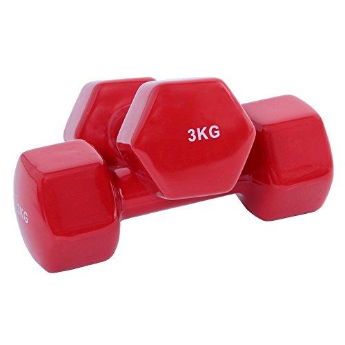 Hoopomania® Gymnastik Hanteln, Kurzhanteln Set, Gewicht 3kg