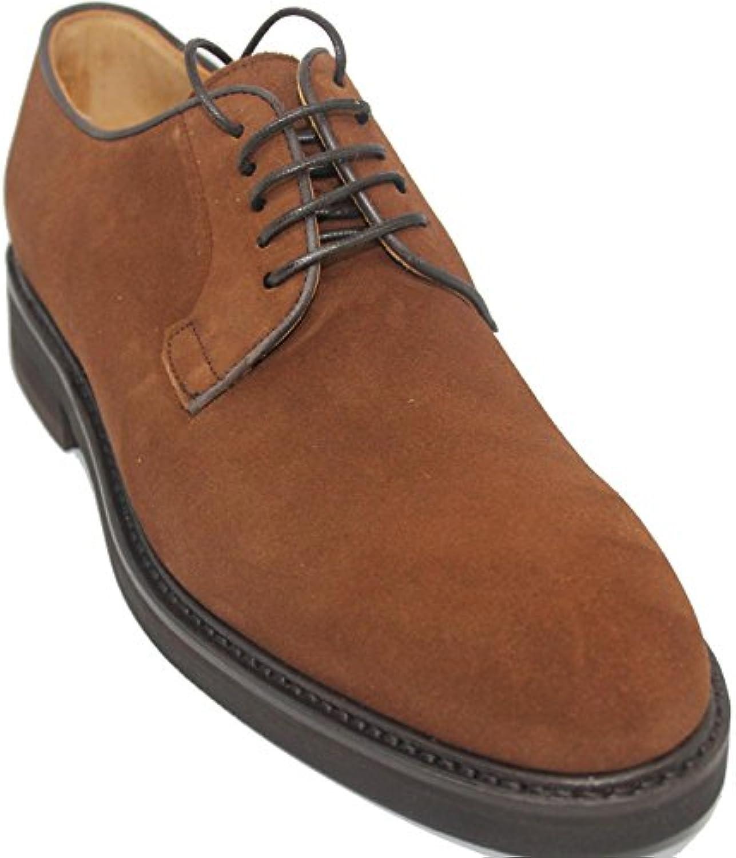 Berwick Zapatos de Cordones con Pala Lisa de Piel de Ante de Becerro Color Marrón Claro para Hombre -