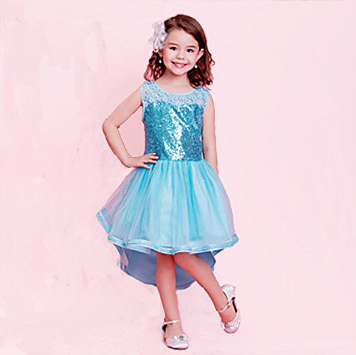 Mädchen Pailletten Swallow Tail Prinzessin Kostüm Kleid Cosplay Halloween Geburtstag Party Fancy Kleid