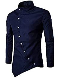 Jeevaan Men's Plain Solid Slim Fit Cotton Causal Shirt