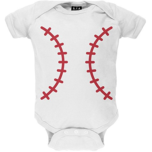 Baseball Kostüm Infant Body weiß weiß (Baseball Kostüme Infant)