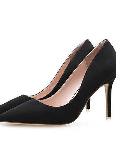 WSS 2016 Chaussures Femme-Décontracté-Noir / Rose / Rouge-Gros Talon-Talons-Chaussures à Talons-Polyuréthane red-us8 / eu39 / uk6 / cn39