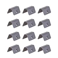 WINLISTING In Channel Wind/Rain Eyebrow Fitting Clips Replacements for Heko G3 Clip X12,rain Eyebrow Clip (Sliver, One Size)