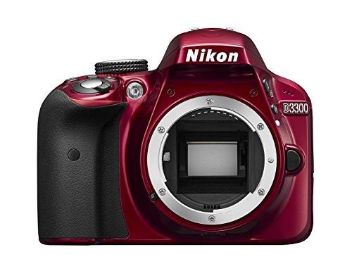 Nikon D3300 SLR-Digitalkamera Kit DX AF-P 18-55 VR rot