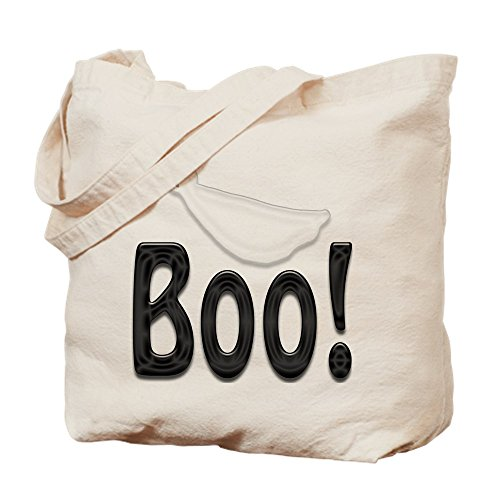 CafePress Boo! Halloween Ghost Tragetasche, canvas, khaki, S (Halloween Boo Ghost)