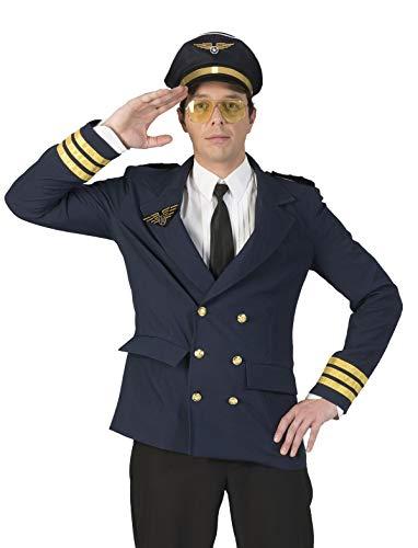 TrendClub100® Bruchpilot Peter Pilot Kostüm für Erwachsene Herren (E, 60-62)