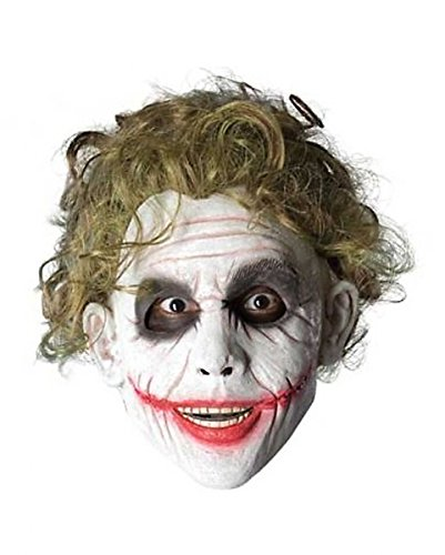 Batman Joker Perücke Comic Kostüm Zubehör Kunsthaar Erwachsene dunkelblond (Dark Knight Joker Outfit)
