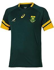 ASICS Springboks Camiseta de Aficionado Caballero, Verde, L