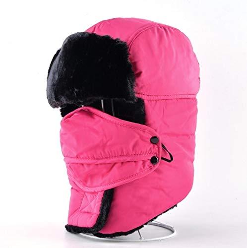 CHENLU Winter Bomber Hüte Für Männer Und Frauen Trapper Dicker Kunstpelz Mütze Russische Outdoor Schnee Hut Mit Ohrenklappen Und Gesichtsmaske