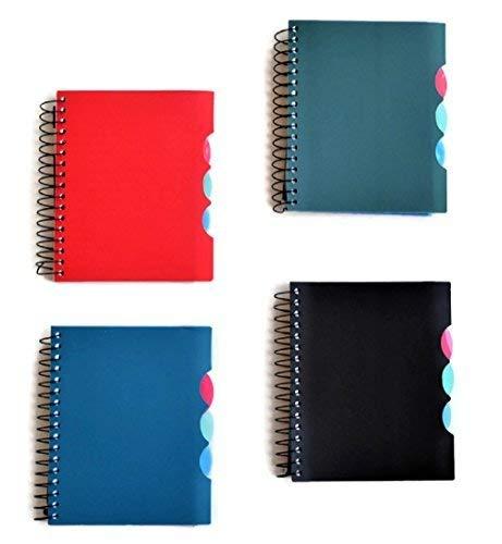 4-subject kleinen Mini Spirale Notebooks mit Kunststoff deckt, Verlobungsring 4Set