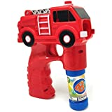 Zest 4 Toyz Fire Truck Bubble Shooter Gun with Sirens and Music – 2 Bubble Solution Included
