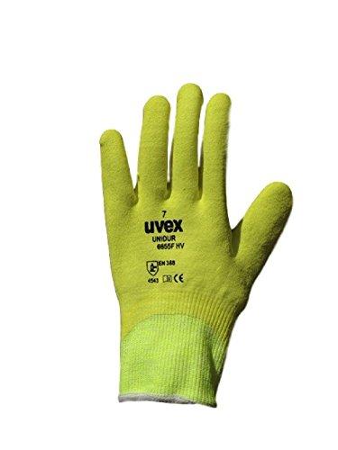 Uvex Unidur cut-5beständig gut sichtbares Greifer Arbeitshandschuhe. Vollständig Beschichtete Fingers (7/Small) -