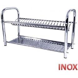 Égouttoir à vaisselle 40 cm en acier inoxydable à poser made in italy