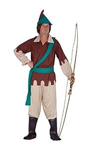 FIORI PAOLO-Arquero del Bosque disfraz adulto Mens, marrón, talla 52-54, 62085