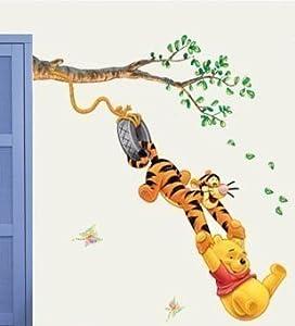 Winnie The Pooh Wall Stickers, Bedroom, Nursery, Kids Winnie The Pooh Childrens Wall Paper Stickers