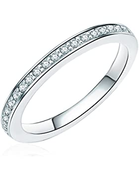 Rafaela Donata Damen-Ring Classic Collection 925 Sterling Silber Zirkonia weiß 608370671