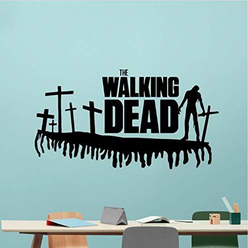 (Namefeng WandaufkleberWalking Dead MoviePVC Horror Movie Poster Dekoration Schlafzimmer Wandkunstwand 105X57 cm)