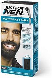 Just For Men, Tinte Colorante en gel para barba y bigote para hombre. Elimina las canas y cuida la barba en 5