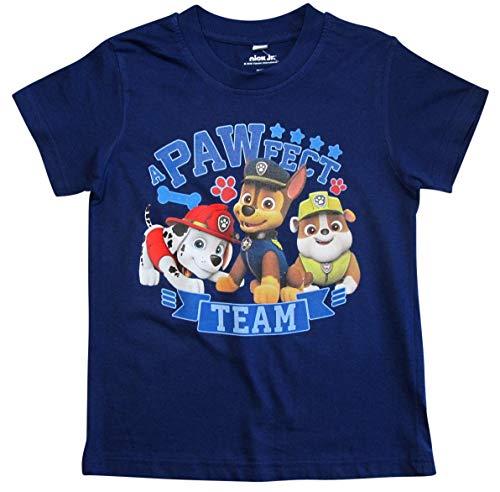 Paw Patrol - Helfer auf Vier Pfoten T-Shirt Jungen Kurz (Blau, 92-98)