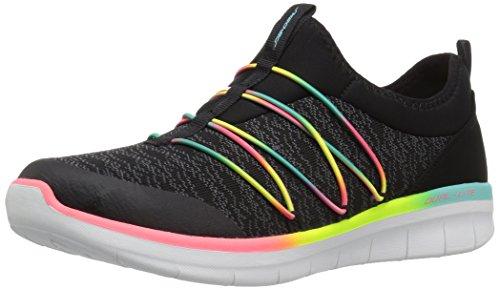 Skechers Damen Synergy 2.0-Simply Chic Slip On Sneaker, Schwarz (Black/Multicolour), 36.5 EU 2 Slip-ons