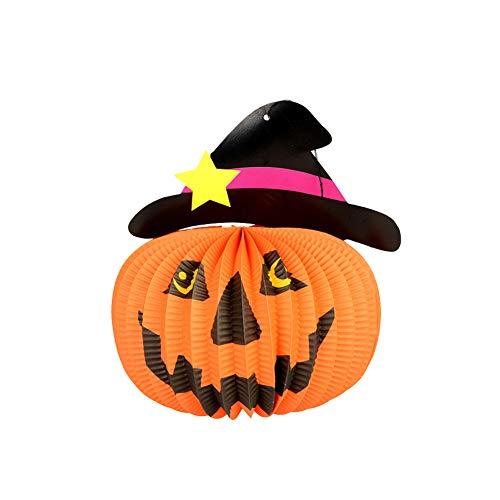 Halloween-Dekorationen Ghosts Puppe Anhänger Dekorative Elemente der Kürbisse Geister und Spinnen für Home Bars KTV Supermarkt Dekoration (1pcs Hut)