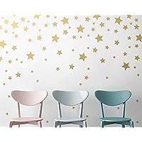 WandSticker4U  Wandtattoo 50 Sterne Zum Kleben | Farbe: Gold | Gross Und  Klein Sternenhimmel