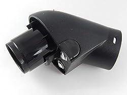 vhbw Geräteanschluss Schlauch Winkelstutzen Anschluss mit Klick System für Staubsauger Miele Medivac S300 - S348i, S400 - S448i wie 3982543, 3982544.