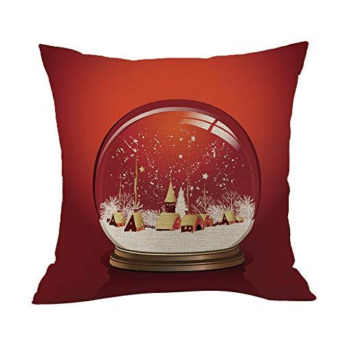 LILICAT Heureux Noël Taie d'oreiller Linen Canapé Housse de Coussin Décor à la Maison Oreiller Core Canapé Coussin
