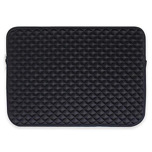 Miya System Ltd 15 Zoll Notebook, Laptophülle 15.4 Zoll stoßfest Notebooktasche Laptop Schutzhülle Notebook Sleeve Hülle PC Laptop Schutztasche mit Diamantgitter.-Schwarz - 15.4 Notebook