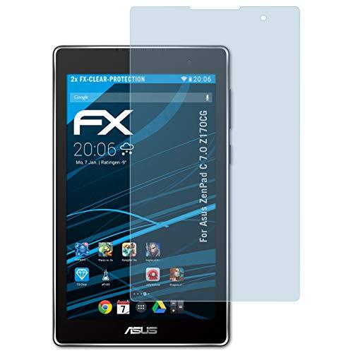 atFolix Schutzfolie kompatibel mit Asus ZenPad C 7.0 Z170CG Folie, ultraklare FX Bildschirmschutzfolie (2X)
