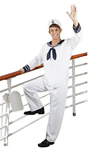 en Hochwertiges Kostüm Matrose, Weiß, Größe L (Pirate Halloween-kostüme Männer)
