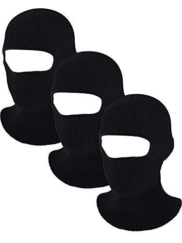 Blulu Volle Gesichtsschutz Gestrickte Sturmhauben Gesicht Maske Winter Ski Maske mit 1 Loch für Winter Erwachsene Lieferung -