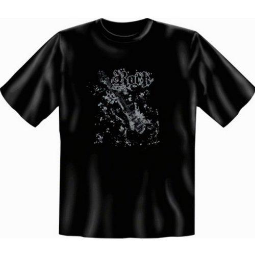 Gitarre Gothic T-shirt Übergröße Rock Fb schwarz in 5XL