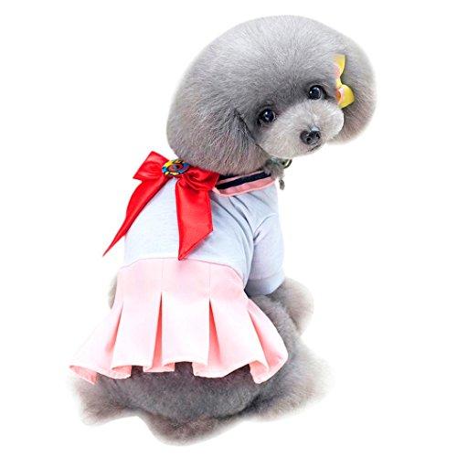 VENMO Hund Kleid Nettes Haustier Uniformkleid Fliege kleine Hundekleidung haustier hund welpen süß...