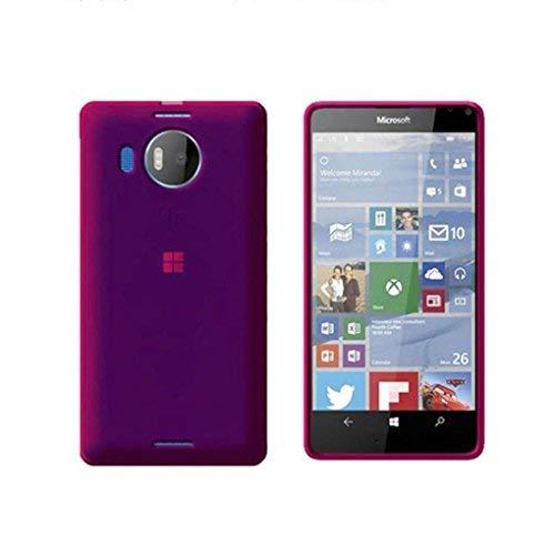 Cipcipstore cover per nokia lumia 950 xl in silicone tpu trasparente rosa
