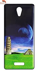 Vcare Shoppe Printed Back case cover for Gionee Marathon M4