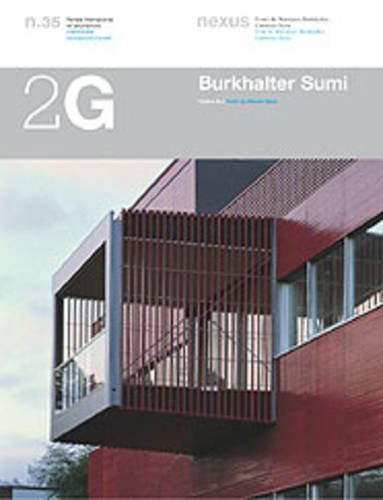 2G N.35 Burkhalter Sumi: Obra reciente: Recent Works (2G: International Architecture Review Series) por BURKHALTER SUMI