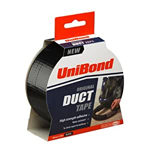 UniBond Original Duct Tape High Strength Adhesive - 50 mm x 25 m, Black